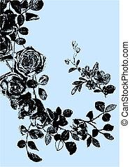 Eine Rose-Illustrationszeichnung