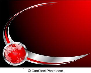 Eine rote Visitenkartenvorlage.