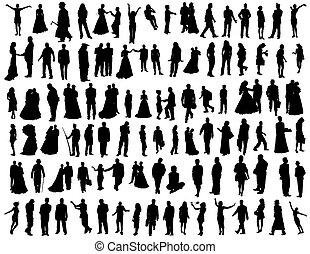Eine Sammlung von Menschen