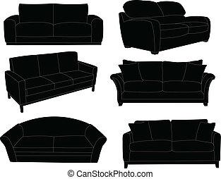 Eine Sammlung von Sofa