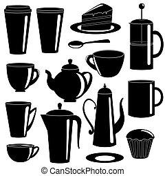Eine Sammlung von Tee und Kaffeeartikeln