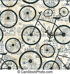 Eine schamlose Struktur des Fahrrads.