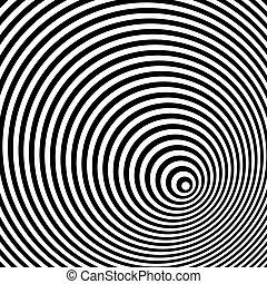 Eine schwarze und weiße optische Illusion.