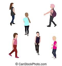 Eine Silhouette, die Kinder laufen lässt. Vector Illustration