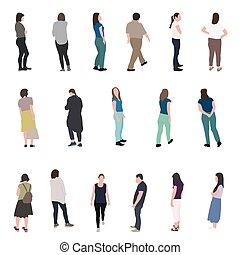 Eine Silhouette, die Leute laufen lässt. Vector Illustration