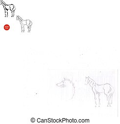 Eine Silhouette von Pferden