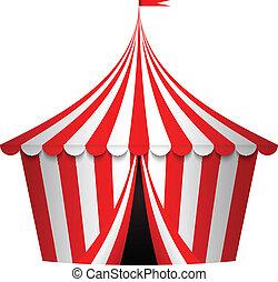 Eine Vektorin zum Zirkuszelt
