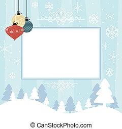 Eine Weihnachtskarte aus dem Katalog