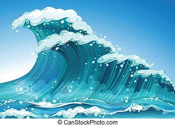Eine Welle.