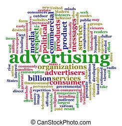 Eine Wolke der Werbung