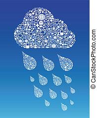 Eine Wolke mit sozialem Hintergrund