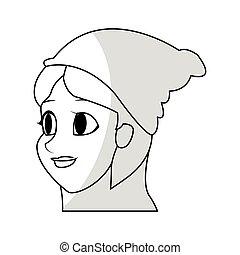 Eine Zeichentrickfigur