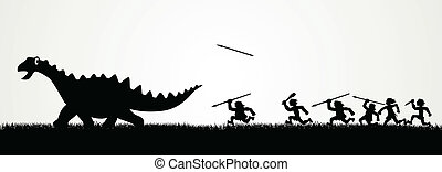 Einen Dinosaurier jagen