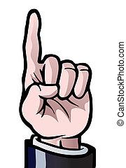 Einen Finger hoch
