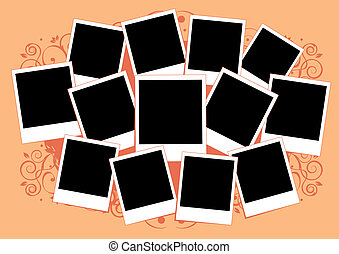 einfügen, bild, collage, rahmen, photos., template., dein