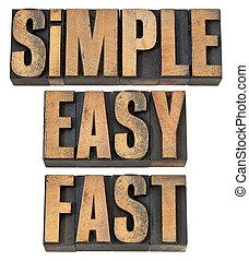 Einfach, einfach und schnell in Holztyp