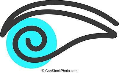 einfache , blaues auge, logo
