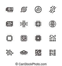 Einfache Elektronik-Icons