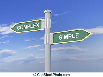 einfache , komplex, 3d, straße zeichen
