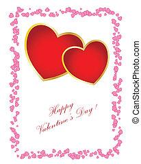 Einfache Valentinskarte. Du kannst den Text für dein Design ändern.