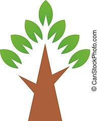 Einfacher grüner Baum. Vector Logosymbol
