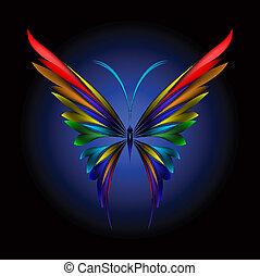 Einfacher Schmetterling