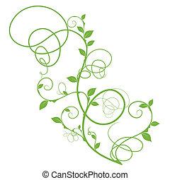 Einfaches grüner Vektor-Foraldesign
