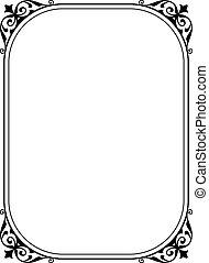 Einfaches schwarzes Dekorationsbild