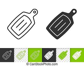 Einfaches schwarzes Line-Vektor-Icon