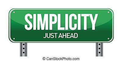 einfachheit, straße zeichen