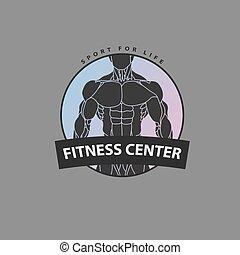 Eingefasster Körper für das Logo des Fitnesszentrums.