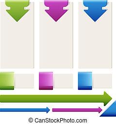Einige Elemente der Infographics