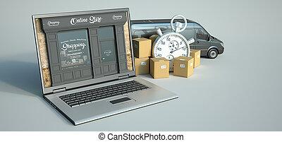 einkaufen speichern, traditionelle , online