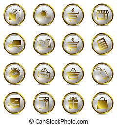 Einkaufen von Gold Ikonen.