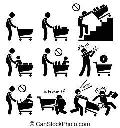 Einkaufswagenführer