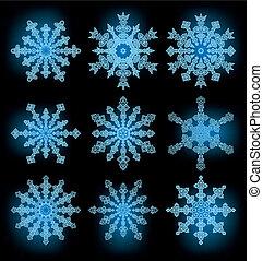 Einsammeln der Schneeflocken