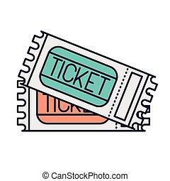 Eintrittskarten für die Ikone.