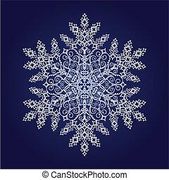 Einzelne Schneeflocke