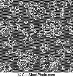 Eisgewebe nahtlos mit abstrakten Blumen.