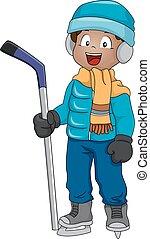 Eishockey-Junge.