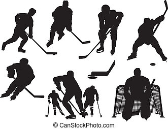 Eishockey-Silhouette