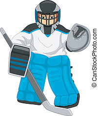Eishockey Torwart.
