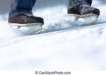 Eislaufen brechen, jede Menge Kopienraum