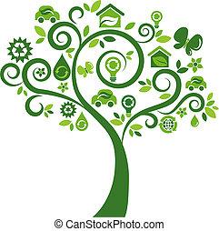 Ekologische Ikonenbaum - zwei