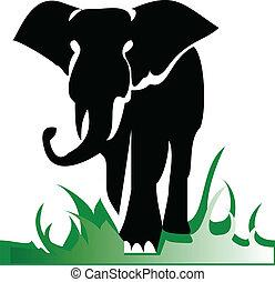 Elefant allein Illustration