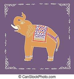 Elefant Illustration im Vektor.