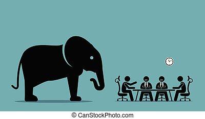 Elefant im Zimmer.