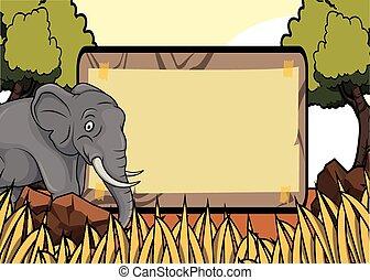 Elefant savanah Safari Szene mit.