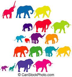Elefantfarbene Silhouette