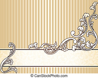 Elegant klassische Sepia-Banner, horizontal